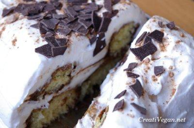 tarta tipo tiramisú