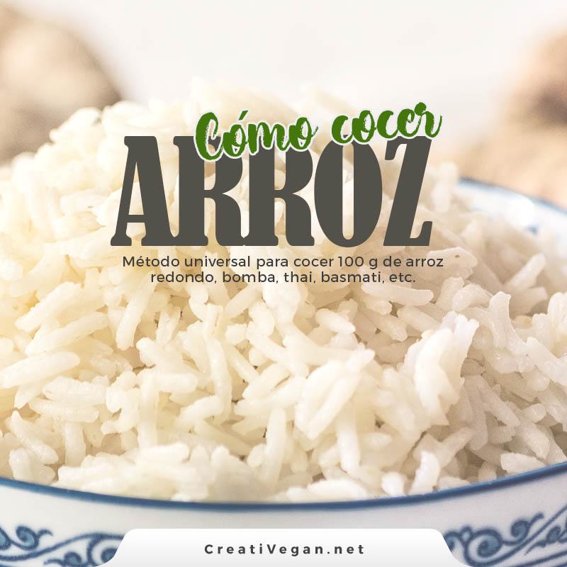 Cómo cocer arroz: método universal para cocer 100 g de arroz bomba, redondo, largo, basmati, thai, etc.