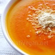 Crema de zanahoria y piquillo