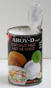 leche de coco para hacer crema de coco