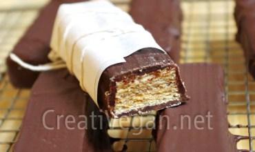 Barritas de chocolate crujiente