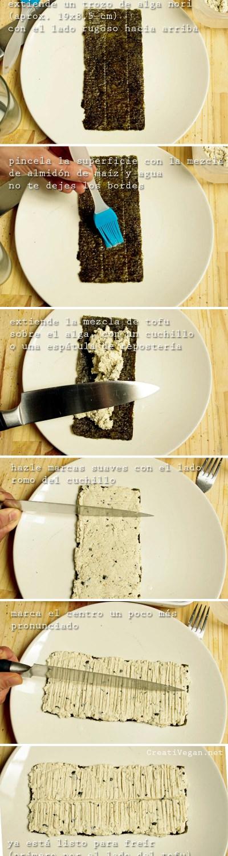Tutorial pescado vegano de tofu - unagi modoki