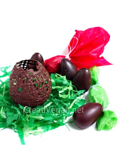 Huevos de chocolate vegano