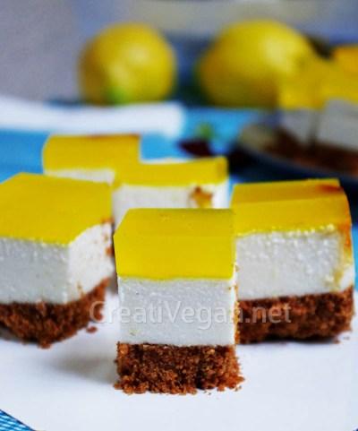 Cheesecake vegano de limón