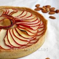 Tarta especiada de manzana y almendras