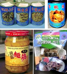 Diferentes tipos de seitán o gluten chino