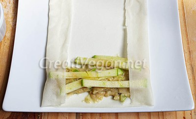 Rollitos de tarta de manzana