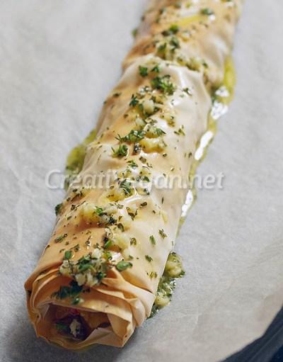 Strudel de tortilla de patatas - preparación