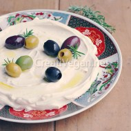 Labneh vegano (queso de yogur vegetal)
