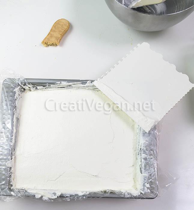 Tiramisú vegano en proceso