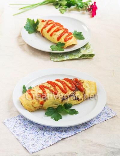 Omurice vegano (arroz con tortilla)