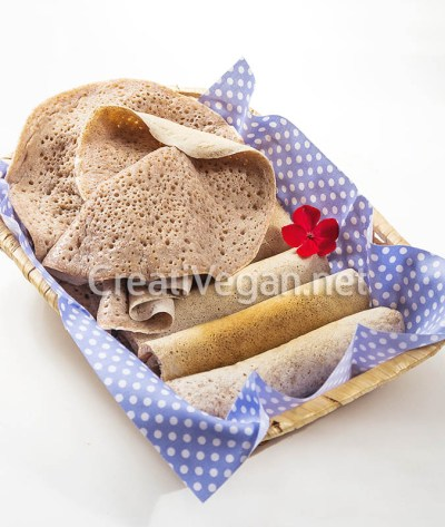 Injera de trigo integral