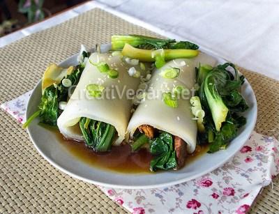 Chee Cheong Fun (rollos de pasta de arroz)