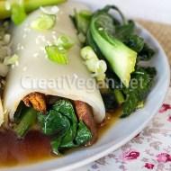 Chee Cheong Fun (rollitos de pasta de arroz)