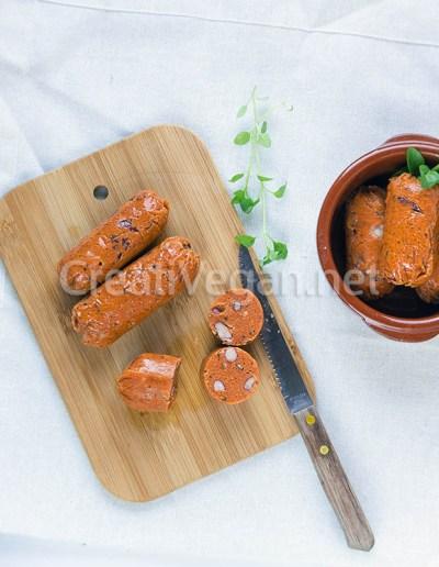 Chorizos veganos