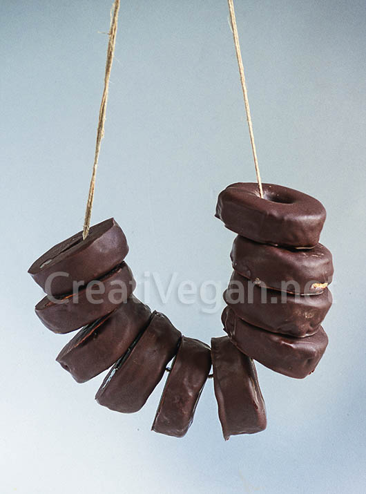 Aros de chocolate veganos