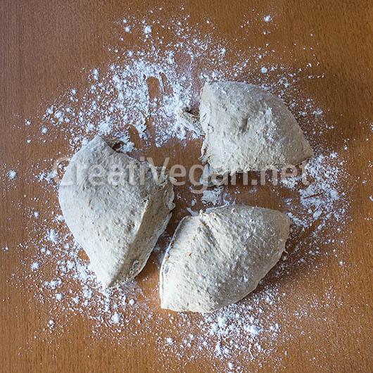 Preparación de mi pan de desayuno