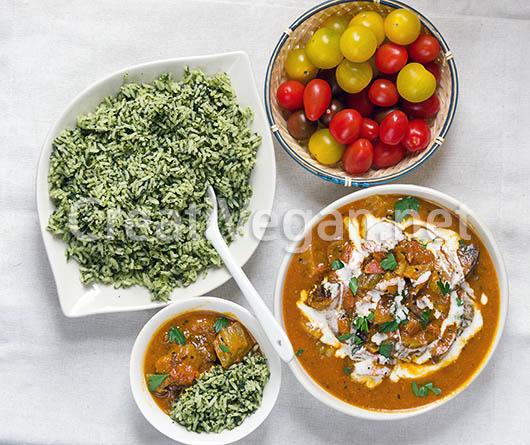 Curry de berenjenas