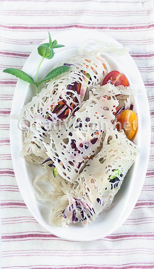 Chả giò chay, rollitos vegetales vietnamitas