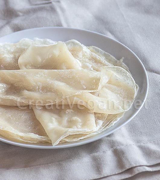 Obleas de arroz y tapioca para rollitos