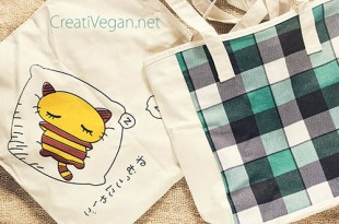Bolsas de tela para la compra -- CreatiVegan.net