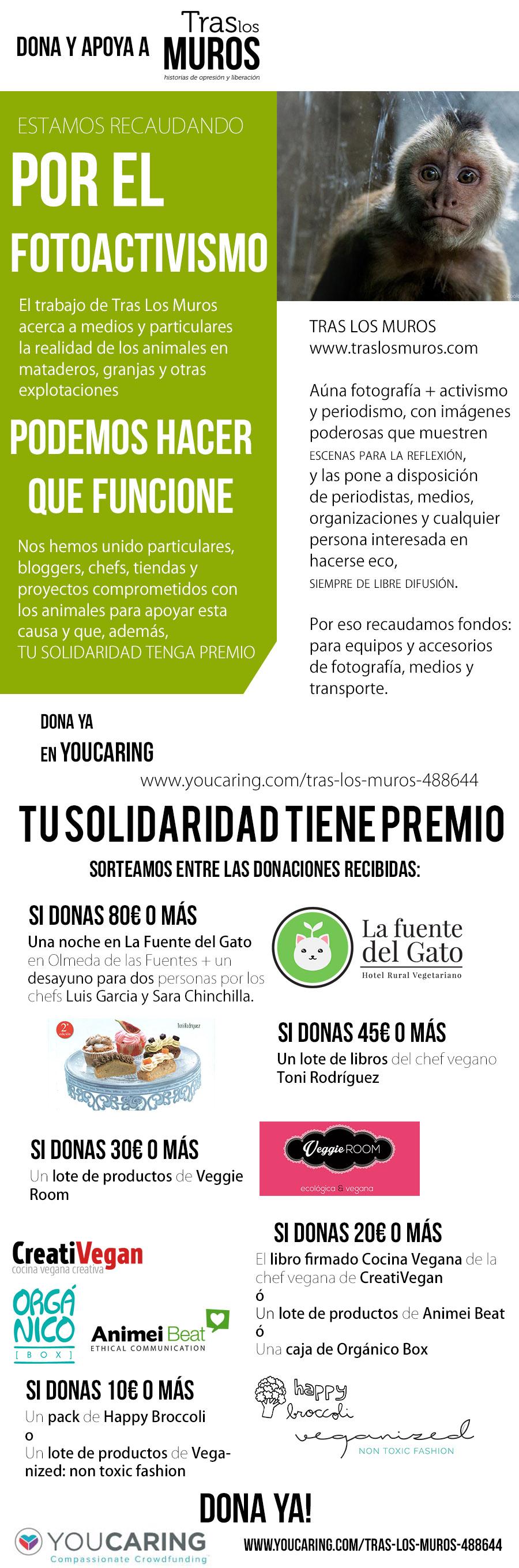 Campaña de donación para TrasLosMuros