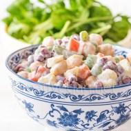 Ensaladilla con legumbres