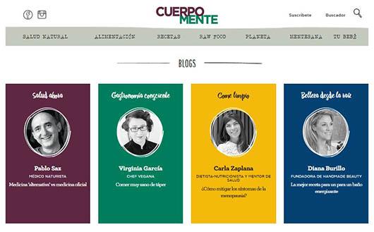 Blogs de la revista Cuerpo Mente - Virginia Garcia-CreatiVegan.net