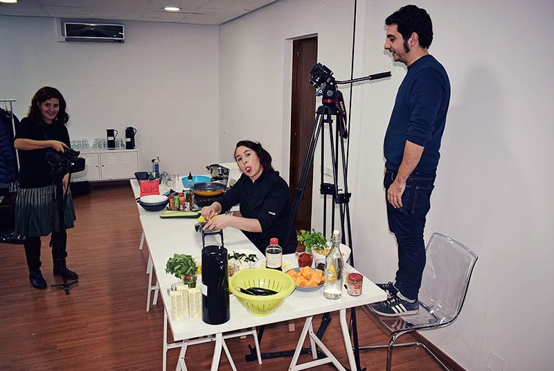 Rodando menú navideño para RTVE - foto de Aitor Sánchez (midietacojea.com)