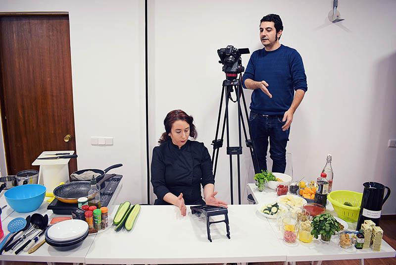Rodando menú navideño para RTVE - foto de Aitor Sánchez (midi