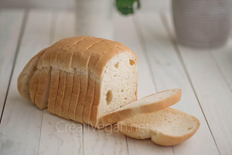 Pan de molde sin gluten (y vegano)