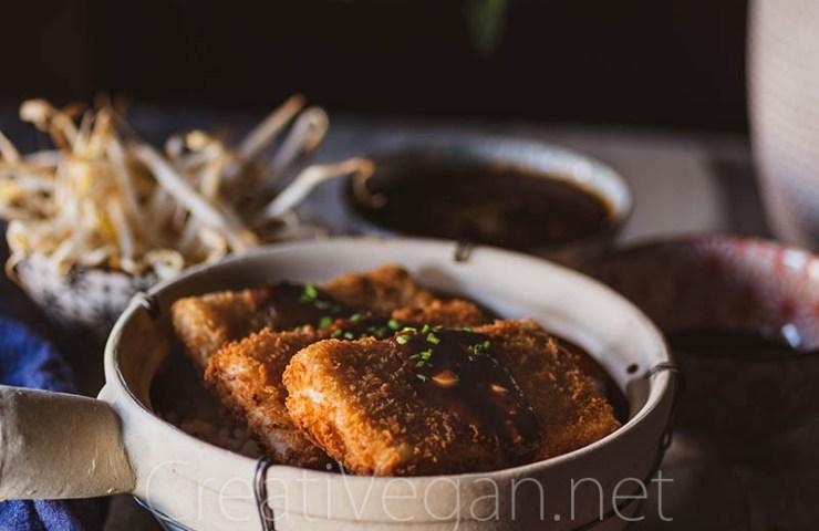 Tofu katsu marinado
