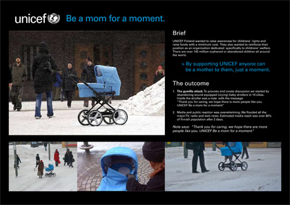 unicef guerrilla marketing