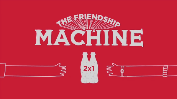 ecff47ec45cac1f6fef451df055b5525 Coca Cola Continues to Spread Happiness with Friendship Machine Guerilla Marketing Example