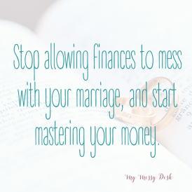 Marriage Gets Messy Finances