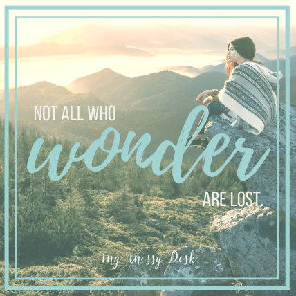 Not all wonder are lost.