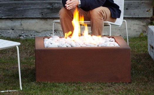 Corten square fire bowl @ CREATIVE