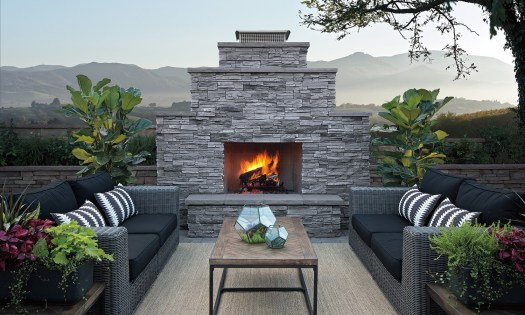 Award winning Sherwood wood or gas burning fireplace is a large and captivating!