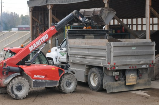 Creative preparing for delivery of landscape materials in the Kitchener-Waterloo, Guelph area