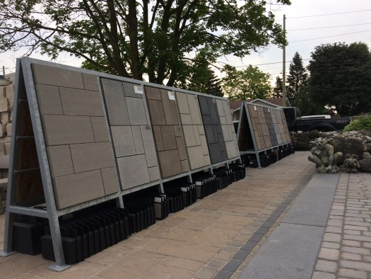 Creative Landscape Depot outdoor display area in St. Jacobs, Ontario.