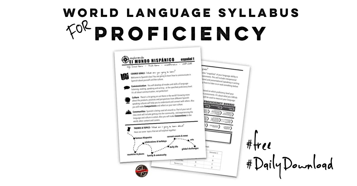 World language syllabus for proficiency creative for Create a syllabus template
