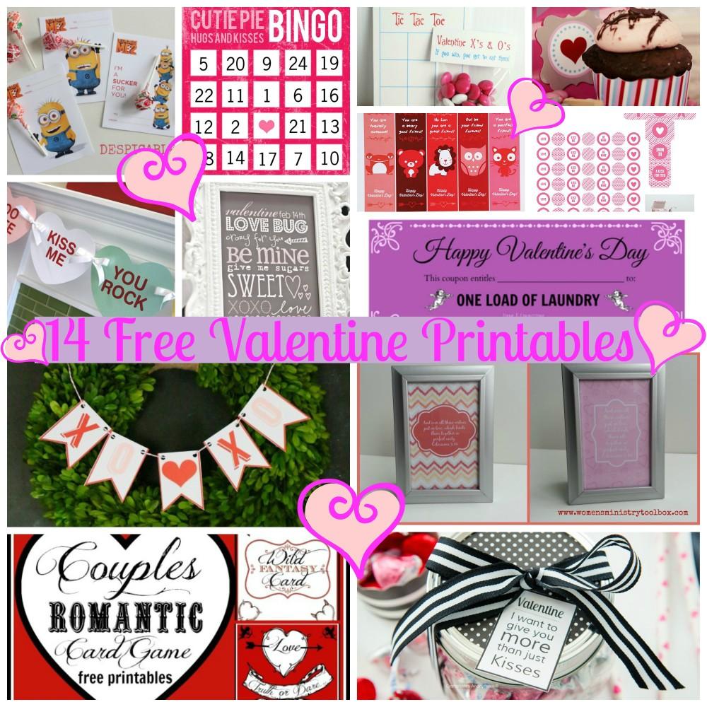 14 free valentine printables