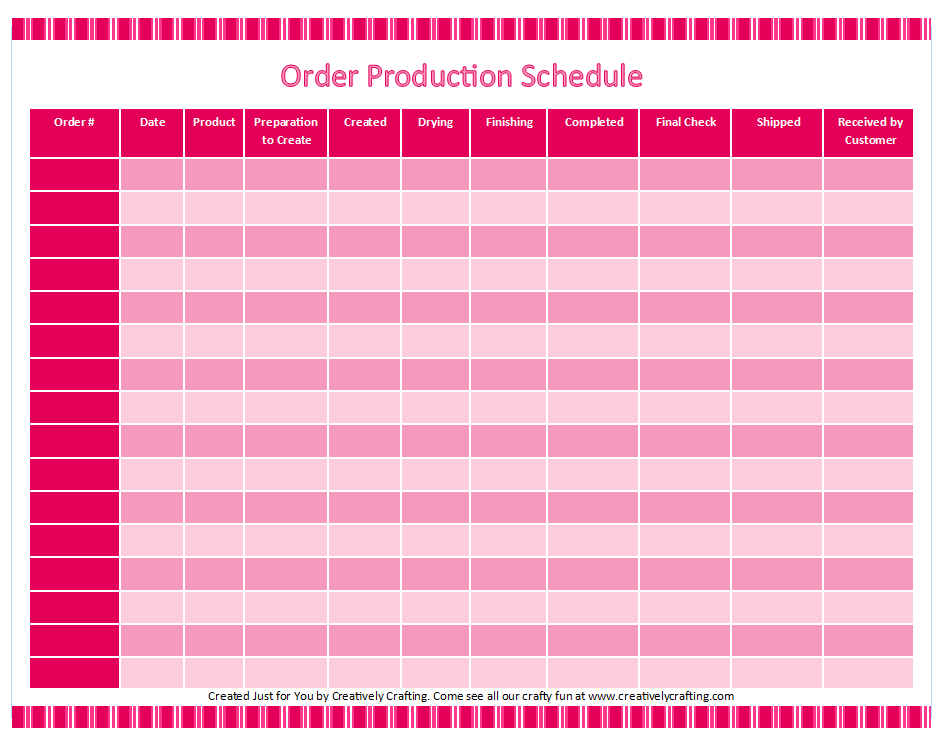 customized printable etsy order tracker creatively crafting