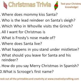 Christmas Trivia Printable