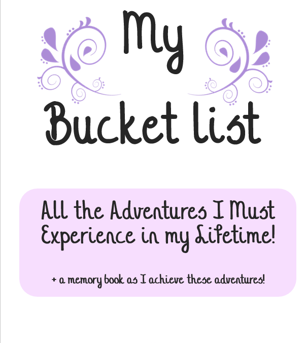 Printable Bucket List Journal – Create your bucket list & record your journey!