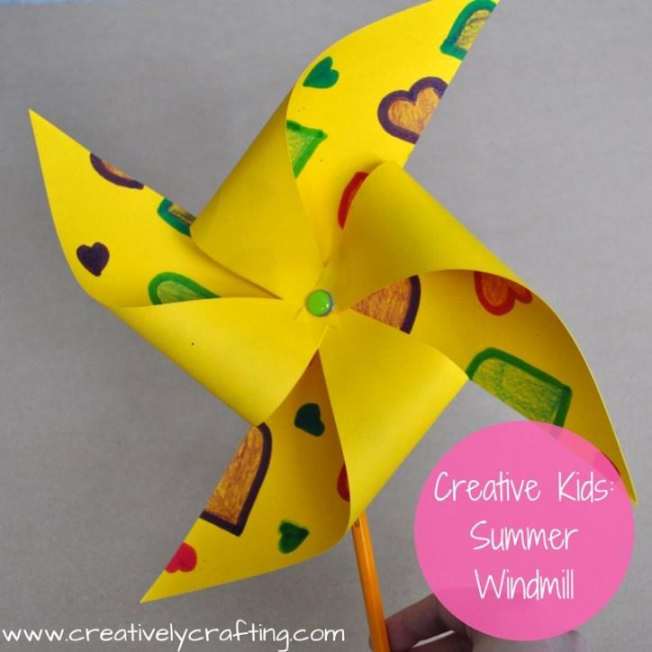 Summer Craft Ideas for Kids - Summer Windmill