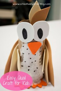 easy quail craft for kids