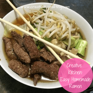 Easy homemade ramen that you can make at home.