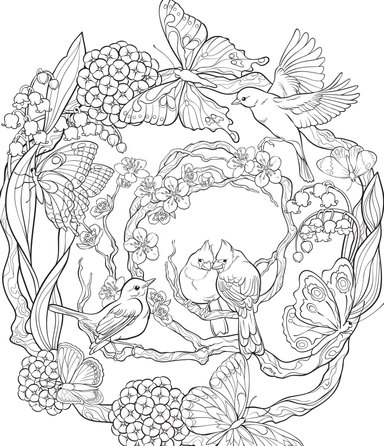 Free Online Coloring Pages For Adults - Creatively Crafting