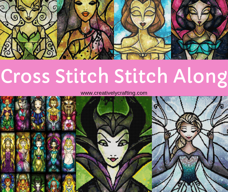 Cross Stitch SAL – Stained Glass Disney Cross Stitch Adventure